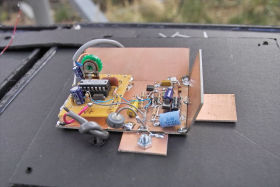 """Prototype the Version 3.01 circuit as mounted                     in the """"cheap"""" enclosure."""